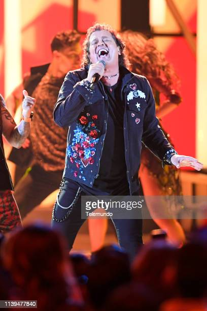Pictured: Carlos Vives performs at the Mandalay Bay Resort and Casino in Las Vegas, NV on April 25, 2019 --