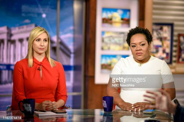 Carol Lee NBC News Correspondent and Yamiche Alcindor White House Correspondent PBS NewsHour appear on Meet the Press in Washington DC Sunday August...
