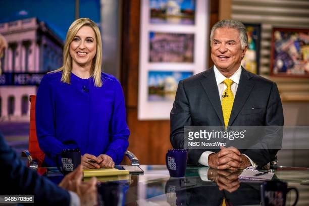 Carol Lee NBC News National Political Reporter and Al Cardenas Republican Strategist appear on Meet the Press in Washington DC Sunday April 15 2018