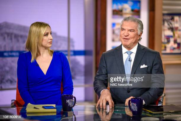 Carol Lee NBC News National Political Reporter and Al Cardenas Republican Strategist Senior Partner Squire Patton Boggs appear on Meet the Press in...