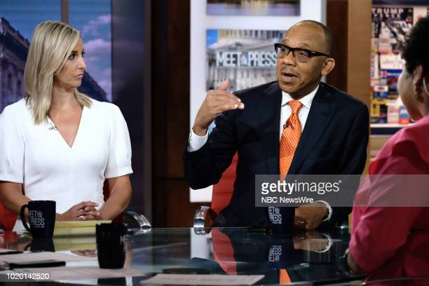 Carol Lee NBC News National Political Reporter and Eugene Robinson Columnist The Washington Post NBC News and MSNBC Political Analyst appear on Meet...