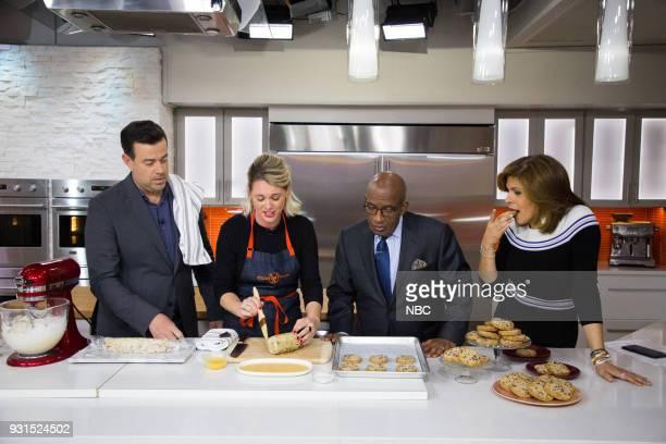 Carson Daly Alison Roman Al Roker and Hoda Kotb on Tuesday March 13 2018