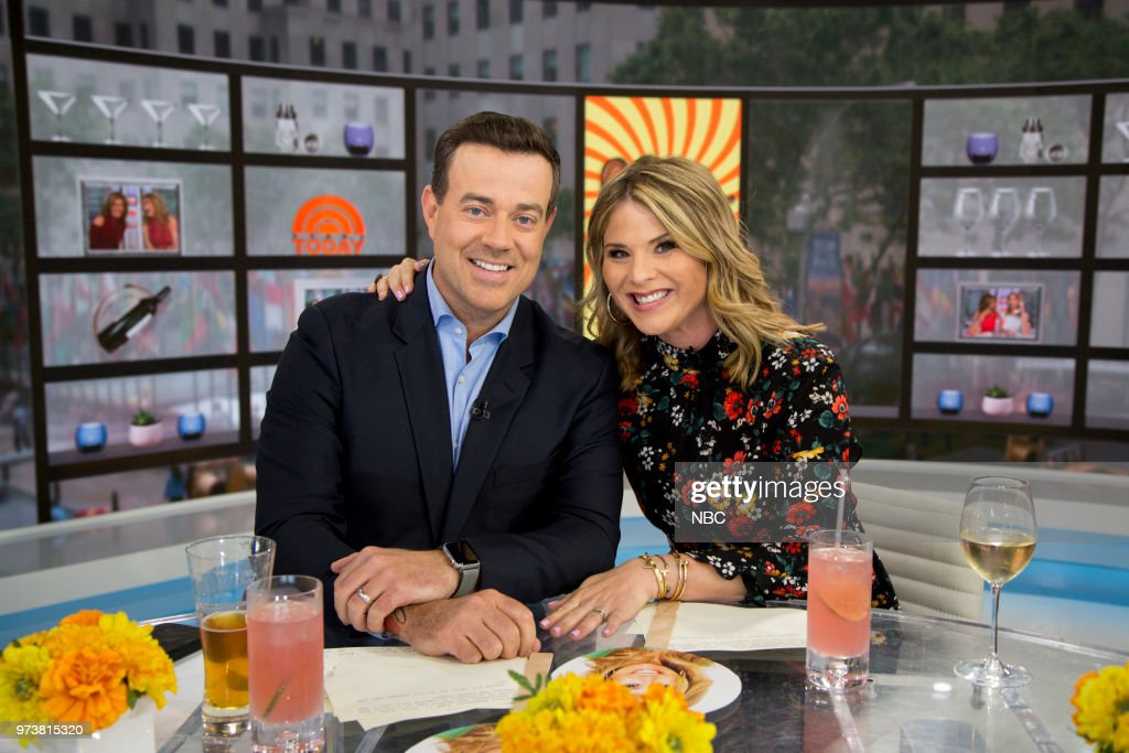 Carson Daly and Jenna Bush Hager on Wednesday June 13, 2018 --