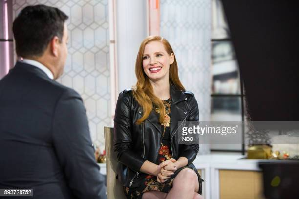 Carson Daly and Jessica Chastain on Friday December 15 2017