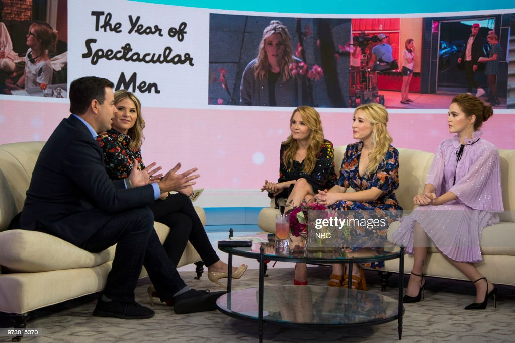Carson Daly, Jenna Bush Hager, Lea Thompson, Madelyn Deutch and Zoey Deutch on Wednesday June 13, 2018 --