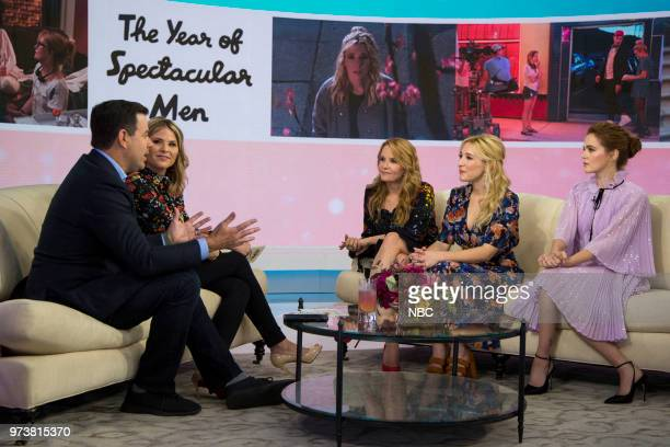 Carson Daly Jenna Bush Hager Lea Thompson Madelyn Deutch and Zoey Deutch on Wednesday June 13 2018