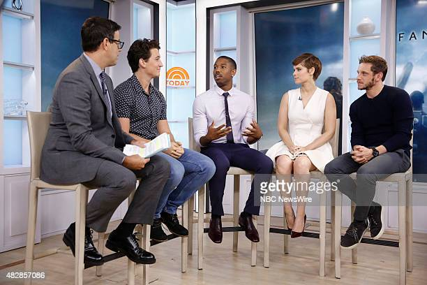 Carson Daly Miles Teller Michael B Jordan Kate Mara and Jamie Bell appear on NBC News' Today show