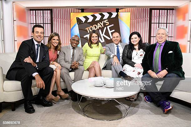 Carson Daly Natalie Morales Al Roker Savannah Guthrie Matt Lauer Maddie Baillio Harvey Fierstein on the 'Today' show on Tuesday June 7 2016 from...