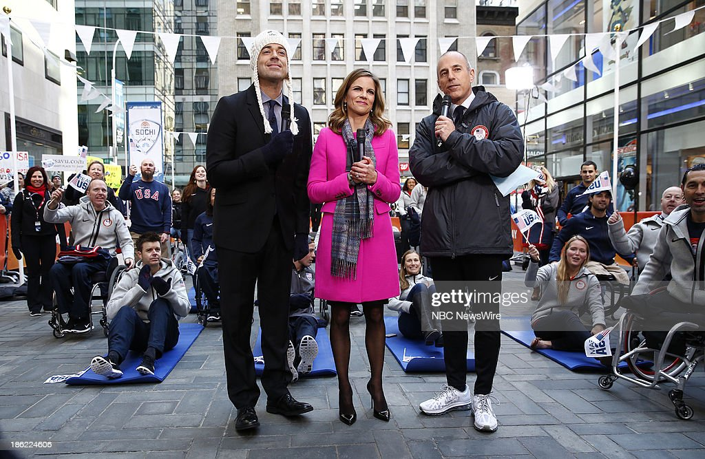 Carson Daly, Natalie Morales and Matt Lauer appear on NBC News' 'Today' show --