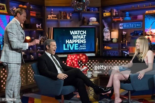 Carson Kressley Andy Cohen and Dakota Fanning