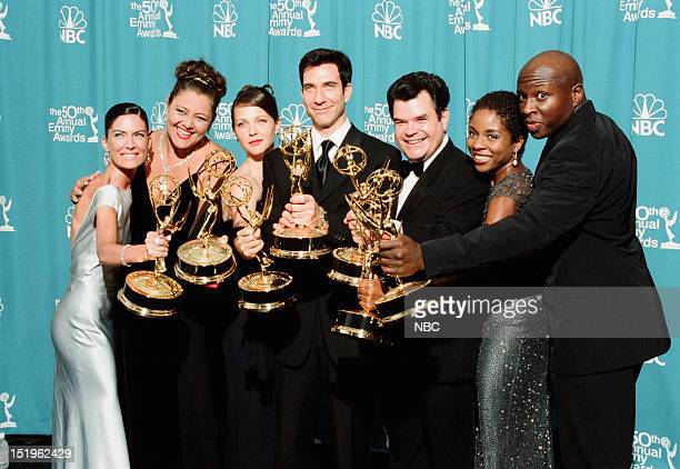 Cast of The Practice Lara Flynn Boyle Camryn Manheim Kelli Williams Dylan McDermott Michael Badalucco Lisa Gay Hamilton Steve Harris winners of...