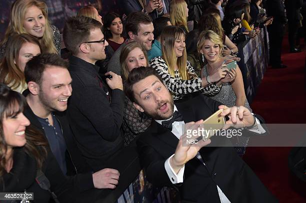 Charlie Day walks the red carpet at the SNL 40th Anniversary Special at 30 Rockefeller Plaza in New York NY on February 15 2015