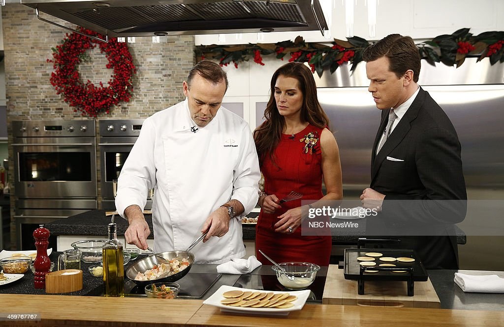 Charlie Palmer, Brooke Shields and Willie Geist appear on NBC News' 'Today' show --