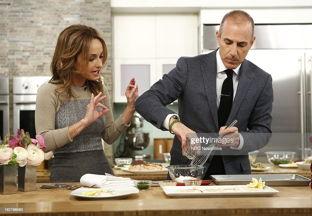Chef Giada de Laurentiis and NBC News' Matt Lauer appear on NBC News' 'Today' show on February 27, 2013 --