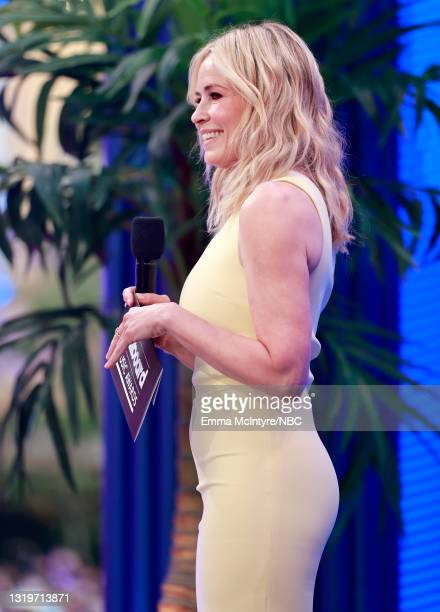 Pictured: Chelsea Handler speaks onstage during the 2021 Billboard Music Awards held at the Microsoft Theater on May 23, 2021 in Los Angeles,...