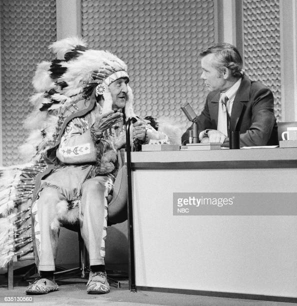 Chief of the Oglala Lakota Sioux tribe Red Fox during an interview with Host Johnny Carson on September 10th 1971