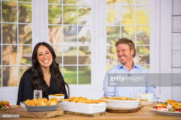 Chip and Joanna Gaines on Tuesday, April 24, 2018 --