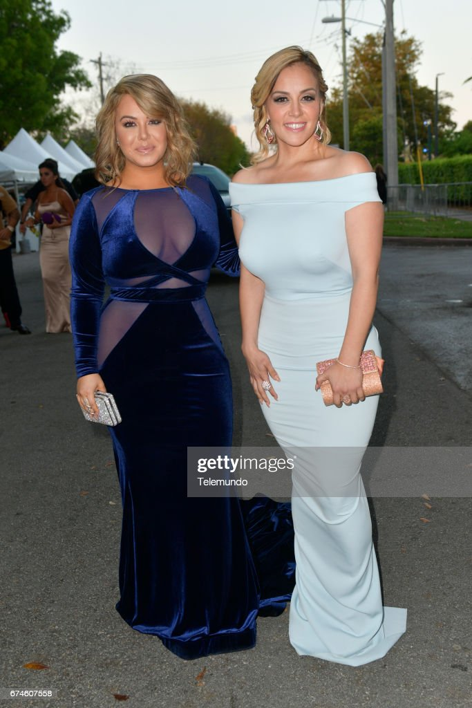 Chiquis Rivera and Rosie Rivera on the Red Carpet at the Watsco Center in the University of Miami, Coral Gables, Florida on April 27, 2017 --