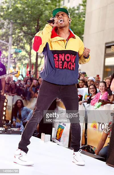 Chris Brown performs on NBC News' 'Today' show
