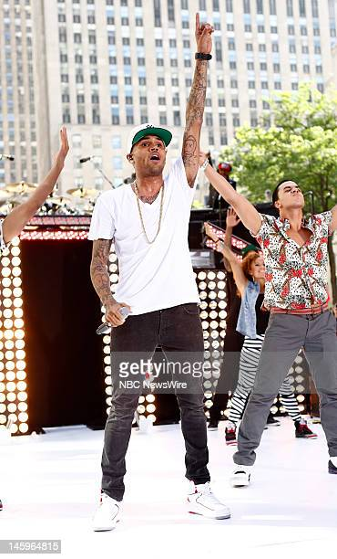 Chris Brown performs on NBC News' Today show
