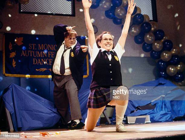 Chris Farley as student Molly Shannon as Mary Katherine Gallagher
