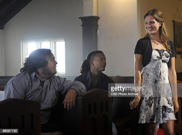 Pictured Chris Gauthier as Malcolm Ross Brandon Jay McLaren as Danny Brooks and Amber Borycki as Beth Barrington in the CBS series Harper's Island on...