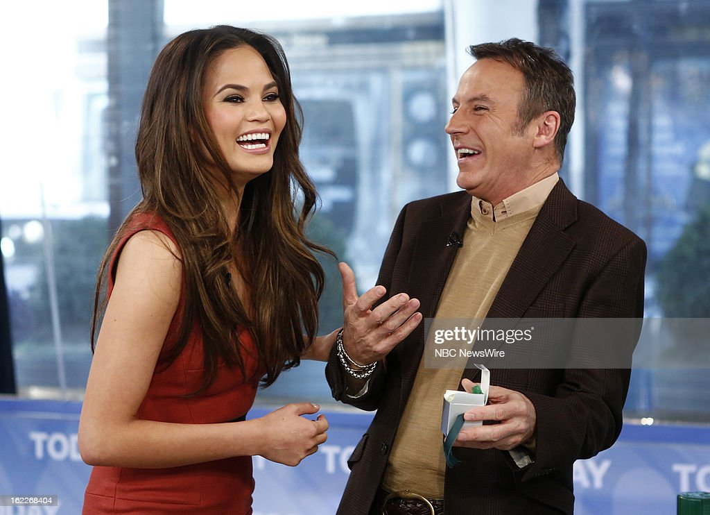 Chrissy Teigen and Colin Cowie appear on NBC News' 'Today' show --