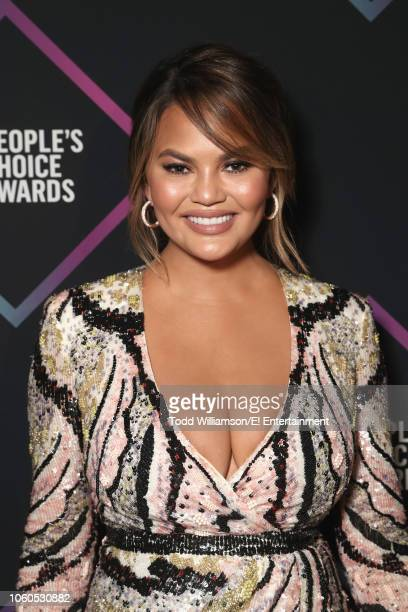Chrissy Teigen backstage during the 2018 E People's Choice Awards held at the Barker Hangar on November 11 2018 NUP_185073