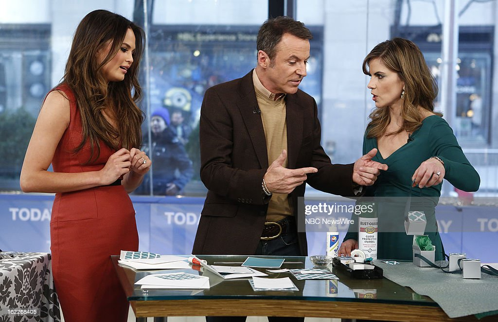 Chrissy Teigen, Colin Cowie and Natalie Morales appear on NBC News' 'Today' show --