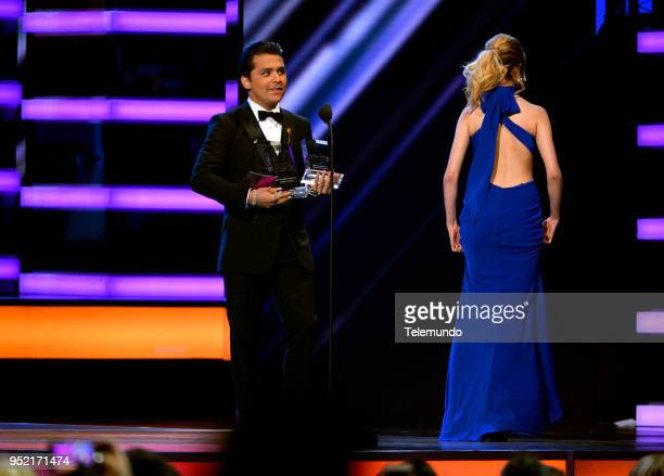 Christian Nodal accepts the award for Solo Mexican Artist of the Year on stage at the Mandalay Bay Resort and Casino in Las Vegas NV on April 26 2018