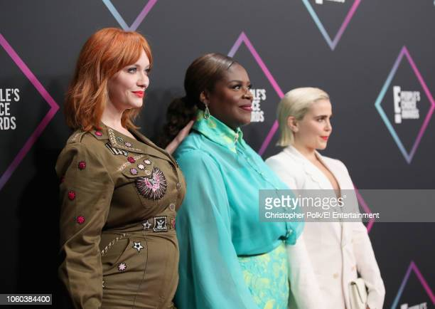 Christina Hendricks Retta and Mae Whitman arrive to the 2018 E People's Choice Awards held at the Barker Hangar on November 11 2018 NUP_185070
