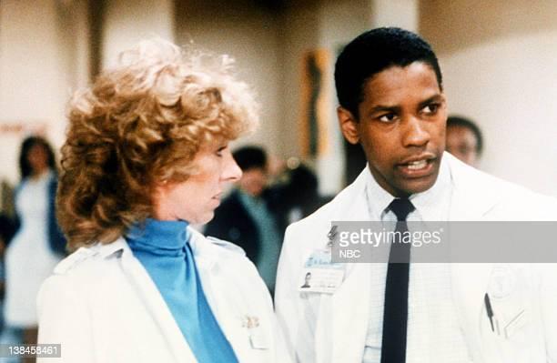 Pictured: Christina Pickles as nurse Helen Rosenthal, Denzel Washington as Dr. Philip Chandler