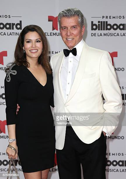 Pictured: Christine Buffer and Michael Buffer arrive at the 2016 Billboard Latin Music Awards at the BankUnited Center in Miami, Florida on April 28,...