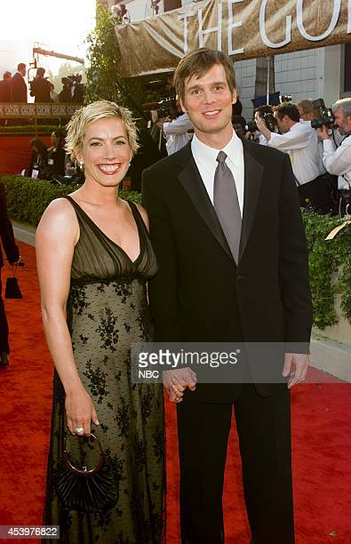 Christine King and Peter Krause arrive at the 60th Annual Golden Globe Awards held at the Beverly Hilton Hotel on January 19 2003