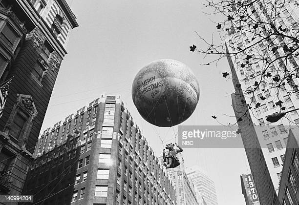 Christmas balloon passes overhead during the 1966 Macy's Thanksgiving Day Parade Photo by NBCU Photo Bank