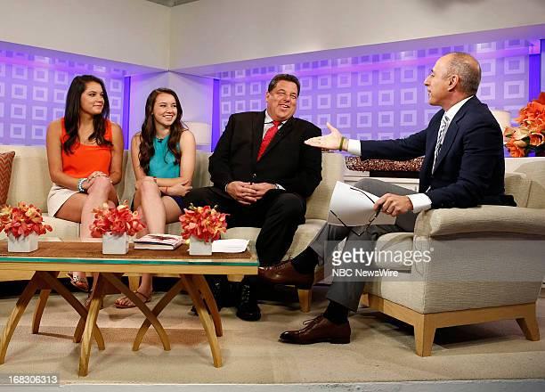 Ciara Schirripa Bria Schirripa Steve Schirripa and Matt Lauer appear on NBC News' Today show