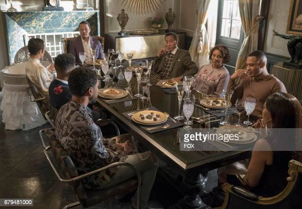 Pictured Clockwise LR Terrence Howard guest star Andre Royo Leslie Ugamms Trai Byers Taraji P Henson Jussie Smollett Bryshere Gray and Grace Byers in...