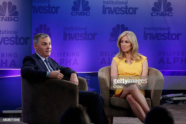CNBC's Becky Quick moderates the Alpha Drivers panel with James Dinan Chief Executive Officer and Founder York Capital at the 5th annual CNBC...