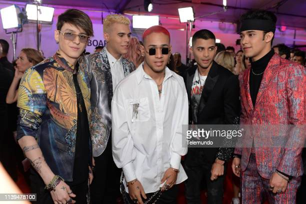 Pictured: CNCO on the red carpet at the Mandalay Bay Resort and Casino in Las Vegas, NV on April 25, 2019 --
