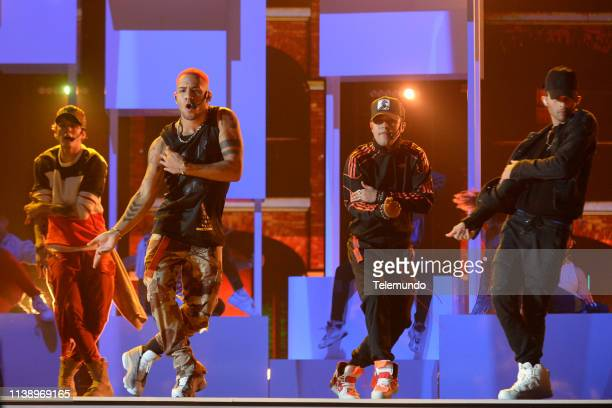 CNCO performs during rehearsals at the Mandalay Bay Resort and Casino in Las Vegas NV on April 22 2019