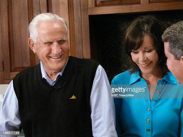 Coach Don Shula and his wife Mary Anne both NutriSystem spokespeople talk with NBC's Kerry Sanders on the topic of men and dieting at home in Miami...