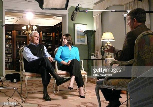 Coach Don Shula and his wife Mary Anne both NutriSystem spokespeople talk with NBC's Kerry Sanders on the topic of men and dieting on June 21 2007