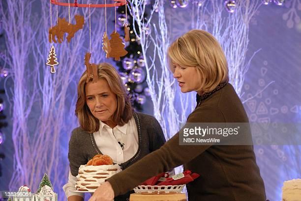 CoAnchor Meredith Vieira and Martha Stewart on NBC News' Today on November 18 2007