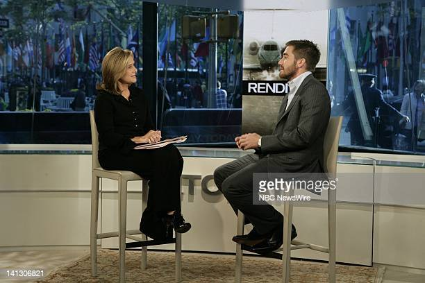 """Co-Anchor Meredith Vieira speaks with Jake Gyllenhaal about his new movie """"Rendition"""" on NBC News' """"Today"""" on October 16, 2007 -- Photo by: Virginia..."""