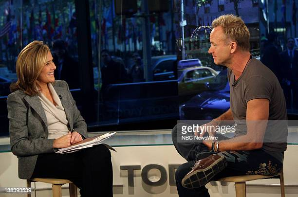 CoAnchor Meredith Vieira speaks with singer/musician Sting about the inspiration for his song and the subject of his new book Lyrics on October 29...
