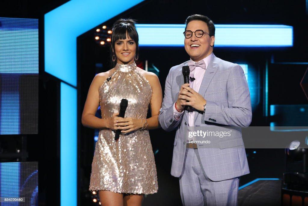 Co-Host Ana Lorena Sánchez, Host Raúl González --