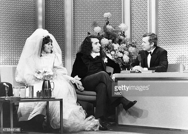 Cohost Ed McMahon Victoria May Miss Vicki Budinger Tiny Tim host Johnny Carson on December 17 1969