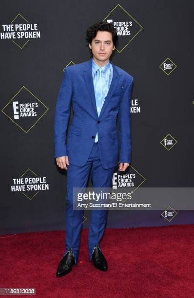 Cole Sprouse arrives to the 2019 E People's Choice Awards held at the Barker Hangar on November 10 2019 NUP_188989