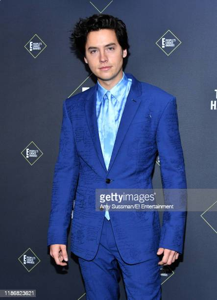 Cole Sprouse winner of Drama Movie Star of 2019 poses in the press room during the 2019 E People's Choice Awards held at the Barker Hangar on...