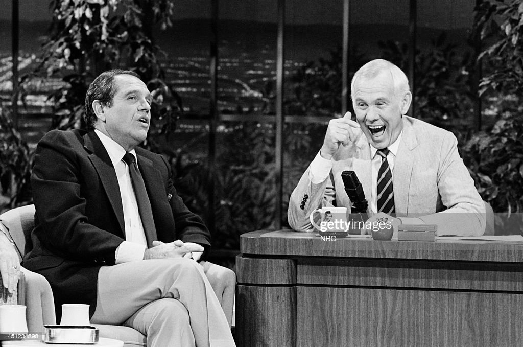 Comedian Alan King during an interview with host Johnny Carson on January 9, 1985 --